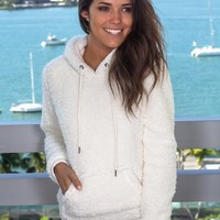 Ivory Fuzzy Pullover Sweater