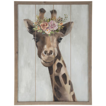 Floral Giraffe Wood Wall Decor | Hobby Lobby | 1812825