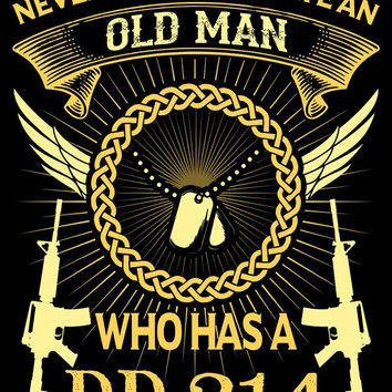 "Pinterest Promotion* Old Man DD214 Vinyl Decal Sticker (5"" tall)"