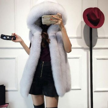 vest mink coat 2016new winter fox fur vest faux fur vest women jacket mink outerwear short paragraph Leather grass fur coat