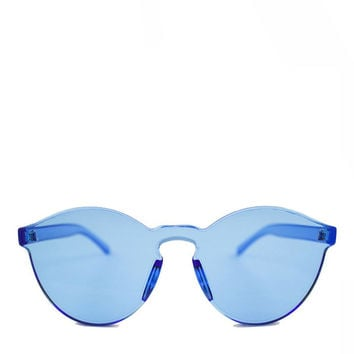 Acrylic Sunglasses - Pool Blue