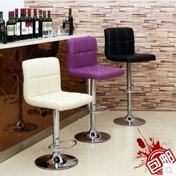European style chair bar chair tall tables and chairs Cashier stool back chair stool elevator at the front desk