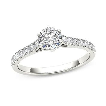 3/4 CT. T.W. Diamond Engagement Ring in 14K White Gold