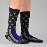 Tactical Thin Blue Line USA Flag Soft Socks