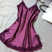 Satin Lace Nightgown