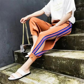 Pants Ruffle Stripes Sportswear [11132272071]