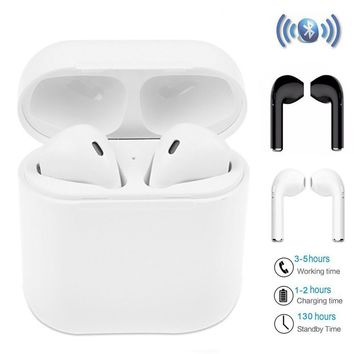 HBQ I7 TWS Twins Wireless Earbuds Mini Bluetooth Headset Earphone with Charging Case