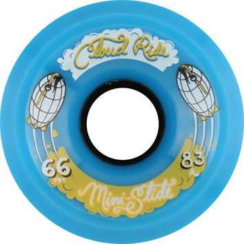 Cloud Ride! Slide Mini 66mm 83a Cyan Longboard Wheels