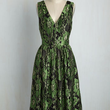 Occasion Elation Dress in Emerald | Mod Retro Vintage Dresses | ModCloth.com