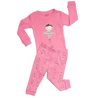 Leveret Toddler Girls Embroidered Pajama Set