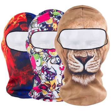 3D Breathable Windproof Animal Balaclava Combat Ghost Skull Tactical Hats Cap Army Helmet Gear Full Face Mask