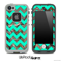 Camo & Trendy Green Chevron Print Skin for the iPhone 4/4s or 5 LifeProof Case