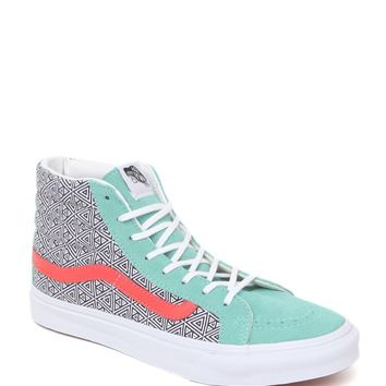 Vans Sk8 Hi Slim Geometric Sneakers - Womens Shoes - Multi