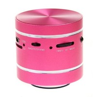 Pink 360° Vibration Resonance Mini Music Speaker for MP3 PC Phones iphone iPad iPod with Remote + FREE Excelvan Card Reader