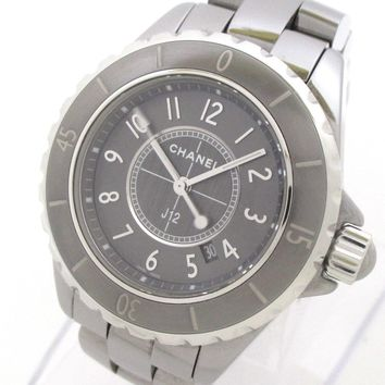 Auth CHANEL J12 Chromatic H2978 Silver Women's Wrist Watch O.M.72965