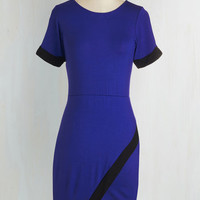 Short Length Short Sleeves Sheath Contemporary Intentions Dress by ModCloth