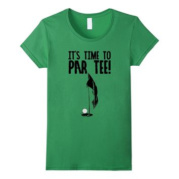 It's Time To Par Tee Funny Vintage Golf T Shirt Light Tees