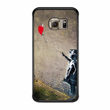 Banksy S Girl With A Red Balloon Ii Samsung Galaxy S6 Edge Plus Case