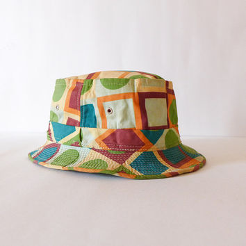 Groovy 60s Hat Retro Beach Hat Old Man Hat Tiki Party Hat Summer Hat Retro Accessories Dad Hat Fishing Hat
