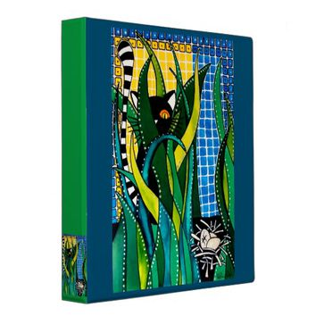 Hunter in Camouflage Whimsical Cat Art Binder