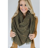 The Perfect Blanket Scarf- Olive