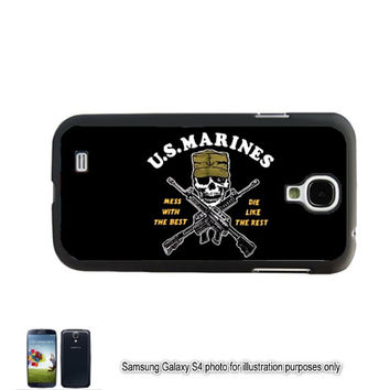US Marine Corp Galaxy S4 S5 Case Mess With Best Skull Samsung Galaxy S3 Cover Note 2 Shell Back Skin Bumper Samsung Galaxy Note 3 Marines