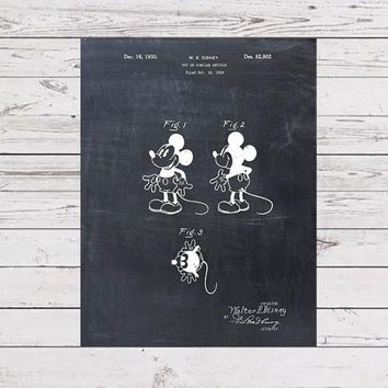 Patent Print - Walt Disney's Mickey Mouse - Patent Art - Patent Art Print - Toy - Children's Decor