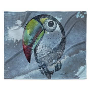 "Ivan Joh ""Tucan"" Blue Pastel Fleece Throw Blanket"