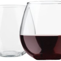 Libbey Vina Stemless 20-Ounce Clear Balloon Wine Glass Set, 4-Piece