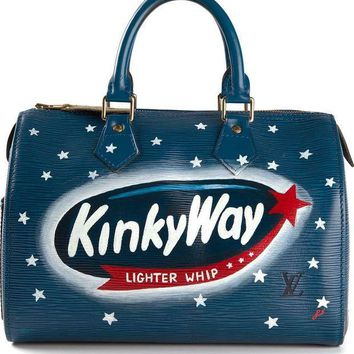 ICIKIN3 Rewind Vintage Affairs small 'Milky Way' printed bowling bag