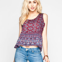 Ali & Kris Paisley Border Print Womens Babydoll Multi  In Sizes