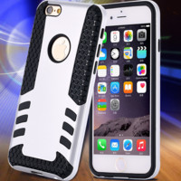 Rocket Armor Dual Layer Soft TPU + PC Hard Cover Slim Hybrid Phone Case For iPhone 6 / 6 Plus /6S Plus