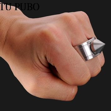 stainless steel Self-defense Product  Self Defense Tool Shocker Weapons Cheap Ring Travel Kit outdoor camping Women Survival WYQ