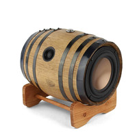 Unique Mini Bourbon Barrel Wooden Bluetooth Speaker