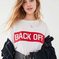 back off white tee