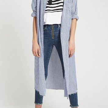 ONE TEASPOON | One X Shirt Dress - Blue/White