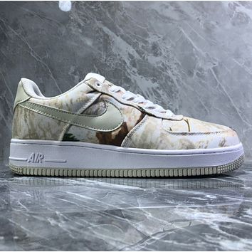Nike Air Force 1 07 Lv8 Fallen camouflage canvas casual shoes