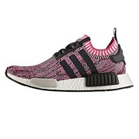 NMD R1 Primeknit Womens in Shock Pink/Core Black by Adidas