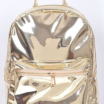 Metallic Shinny Backpack