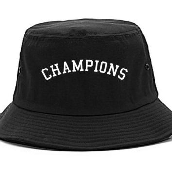 Kings Of NY Champions Arch Black and Gold Bucket Hat