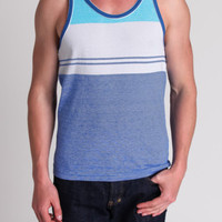 Large Double Stripe Tank