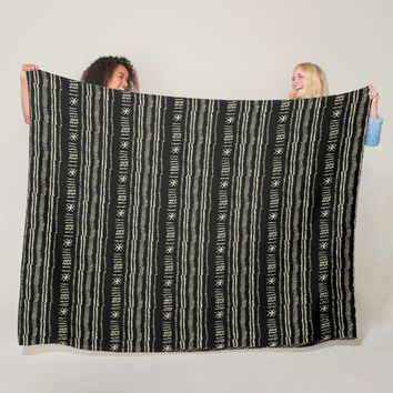 African Mud Cloth Pattern Fleece Blanket