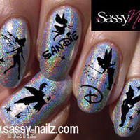 Personalized disney nail art transfer wraps decal your name here