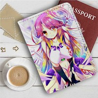 No Game No Life Shiro Leather Passport Wallet Case Cover