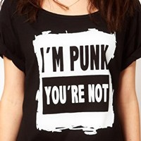 A Question Of Punk Organic Cotton T Shirt at asos.com