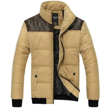 [Asia size] New Brand Winter Jacket Men Warm cotton Jacket Casual Parka Men padded Winter Jacket Casual Handsome Winter Coat Men