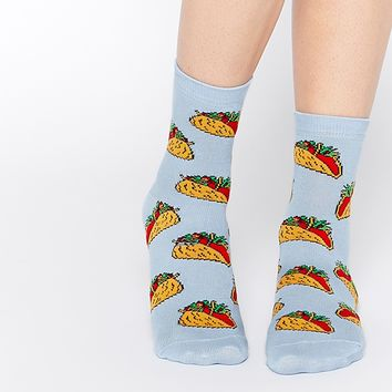 ASOS Ankle Socks With Taco's