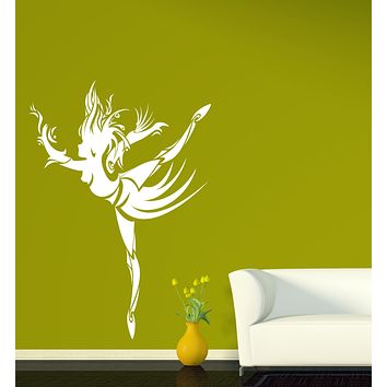 Large Vinyl Decal Abstract Dancing Girl Tattoo Style Wall Sticker Unique Gift (n635)