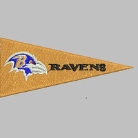 Baltimore Ravens Logo With Arrow Shape Embroidery Design - Instant Download Filled Stitches Design 345A
