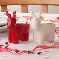 Ceramic Reindeer Tea Light Holder